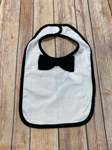 Baby Bib with Bow Tie - black