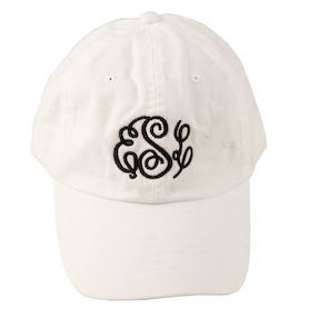 Monogram Baseball Hat White - Sew Cute By Katie