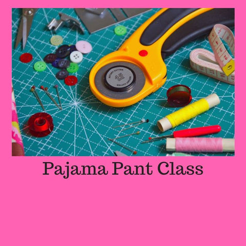 Pajama Bottom Online Sewing Class - Sew Cute By Katie