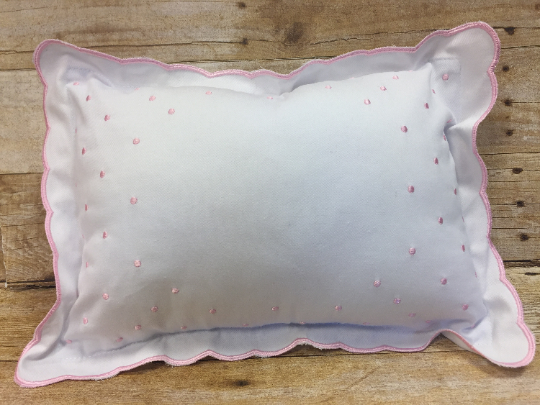 Baby Keepsake Pillow - Pink, Blue, or White trim - Sew Cute By Katie