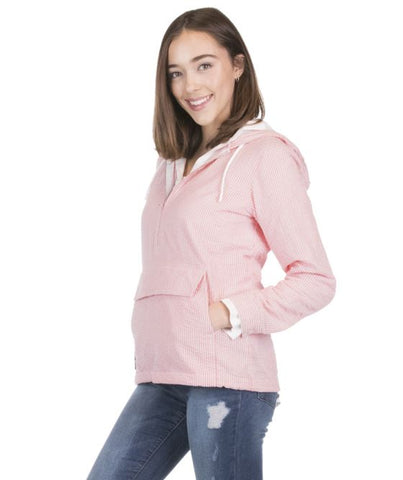 Pink Seersucker Pullover Jacket - Sew Cute By Katie