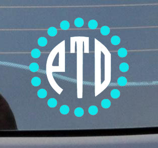 Window Monogram Decal - Sew Cute By Katie