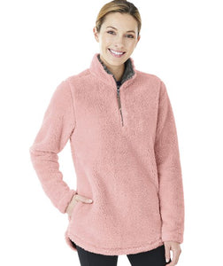 Sherpa 1/4 zip pullover - Light Pink - Sew Cute By Katie