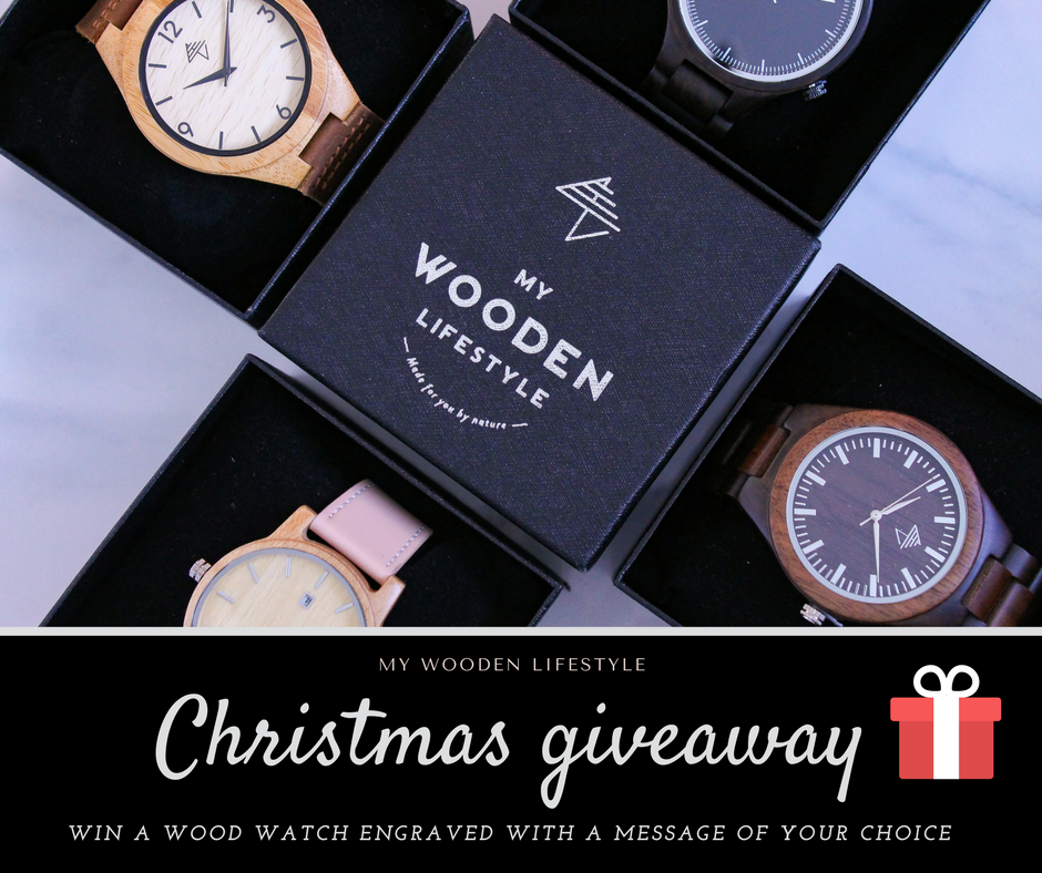 Christmas giveaway : you could win an engraved watch of your choice !