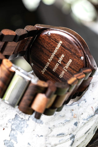 My Wooden Lifestyle engraved wood watch
