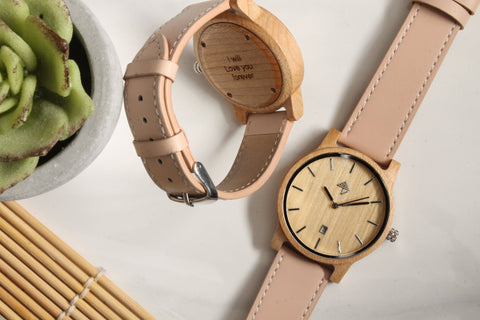 My Wooden Lifestyle Carmen engraved wood watch