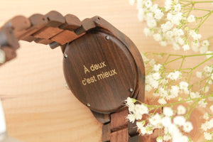 Personalized and engraved wood watch