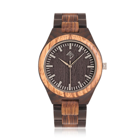 Corcovado Loango - Zebrano and black sandalwood watch
