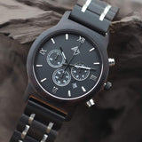 Carbon - Black sandalwood chronograph watch