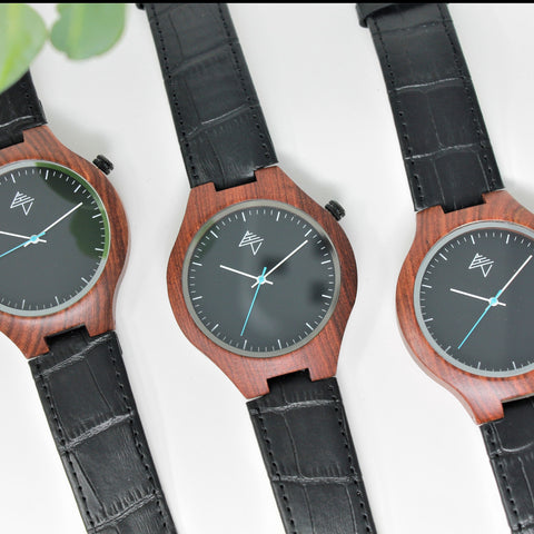 Samara Black - Sandalwood watch