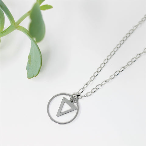 Geometric minimalist necklace