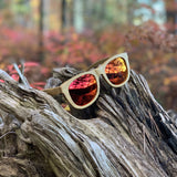 Minshan Fire - Polarized wooden sunglasses