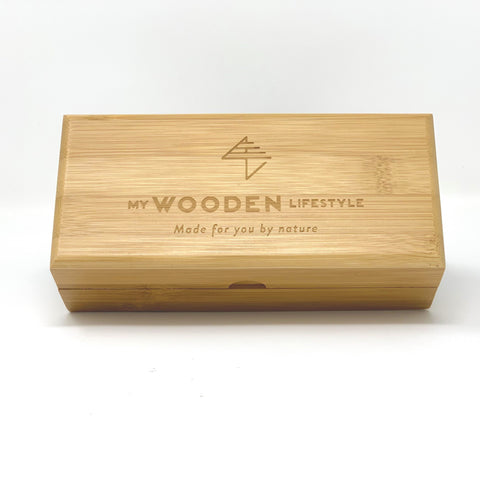 Sunglasses bamboo box