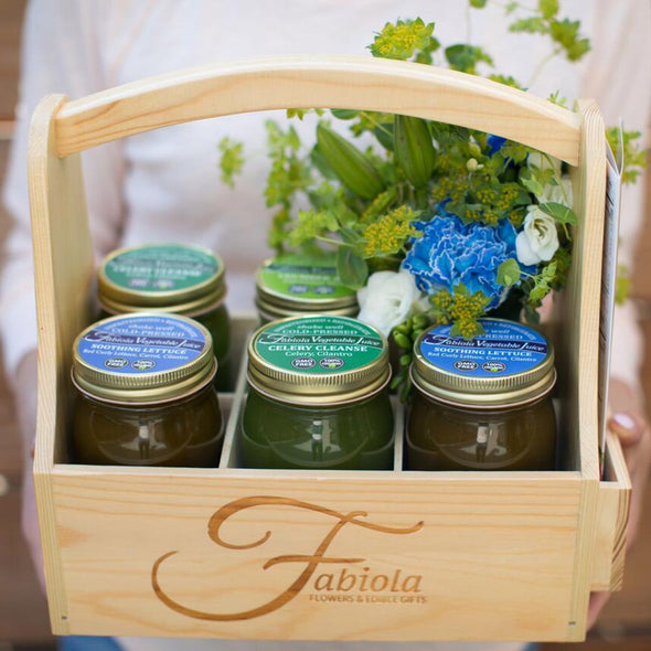 healthy gift baskets and flowers