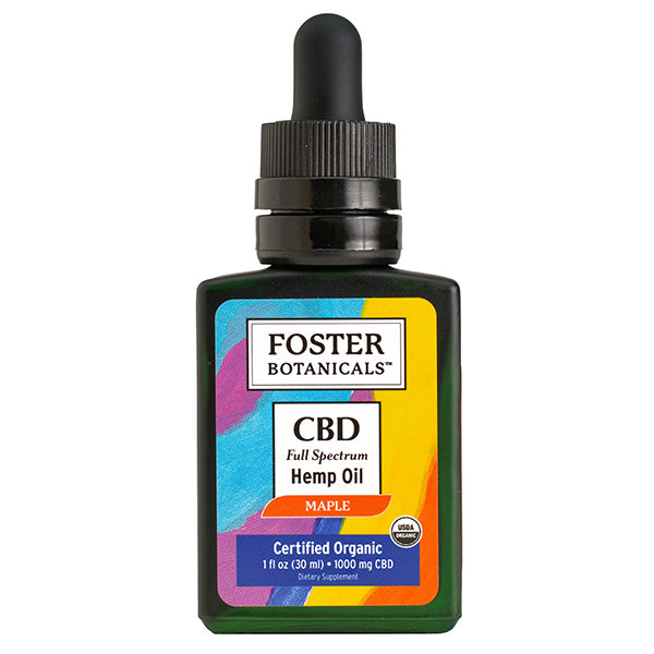 CBD Full Spectrum Maple Hemp Oil Bottle