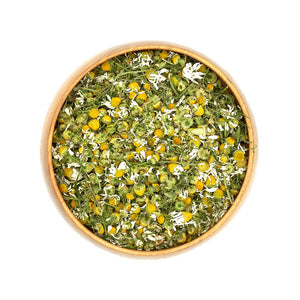 Organic Dried Chamomile Blossoms in Bowl