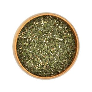 Organic Dried Lemon Balm Herbs in Bowl