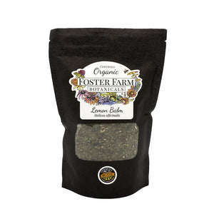 Organic Lemon Balm Dried Herbs in Bag