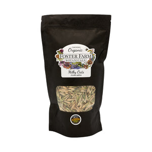 Organic Milky Oats Dried Seed Tops in Bag