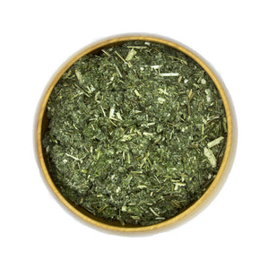 Organic Dried Mugwort Herbs in Bowl