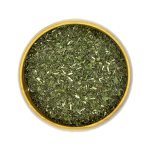 Organic Dried Spearmint Herbs in Bowl