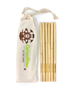 6 BAMBOO STRAWS + cleaning brush
