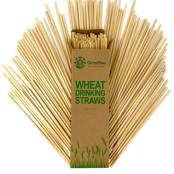 WHEAT GRASS DRINKING STRAWS, DISPOSABLE, NATURAL, ECO-FRIEDNLY, COMPOSTABLE, BIODEGRADABLE