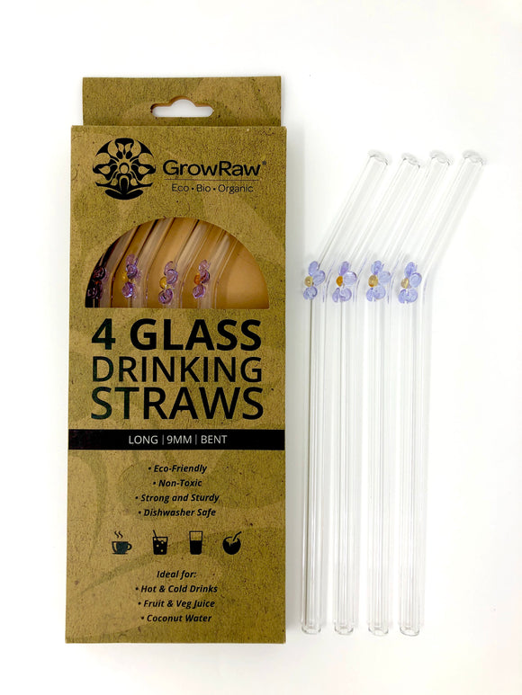 DAISY 4 GLASS STRAWS - LONG|9MM|BENT