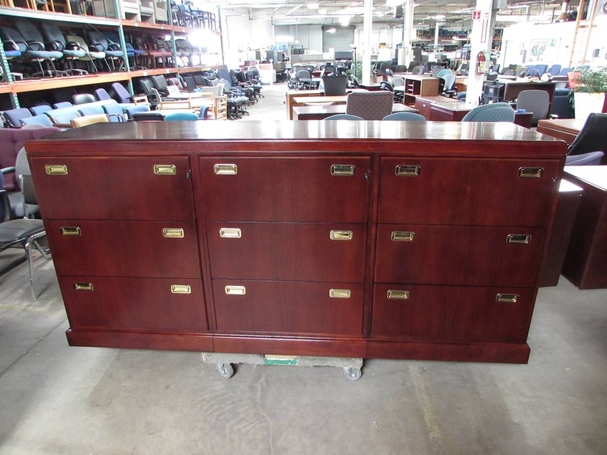 Wood Lateral File Cabinet Credenza