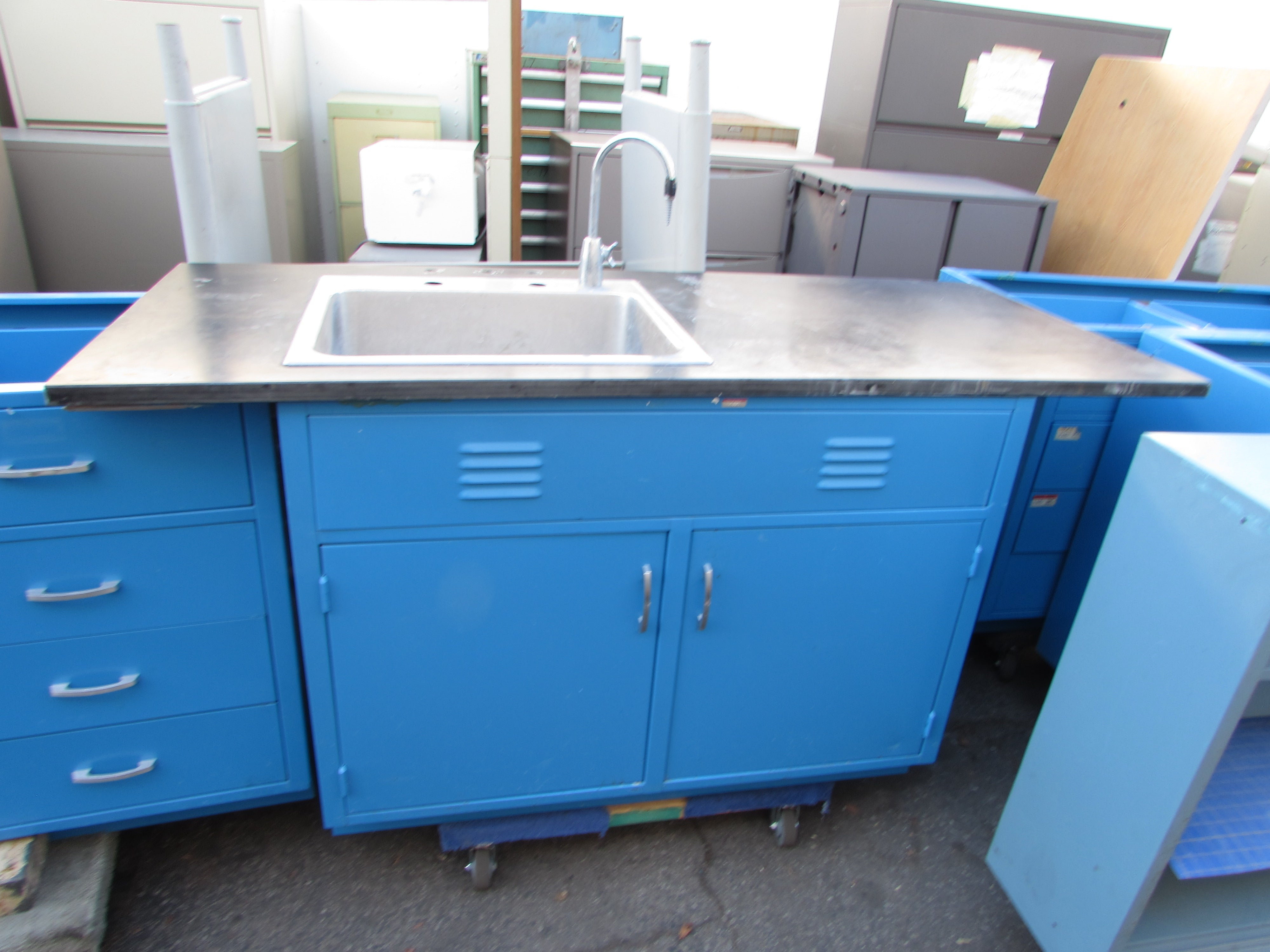 Lab Cabinets with Slate or Epoxy Surfaces
