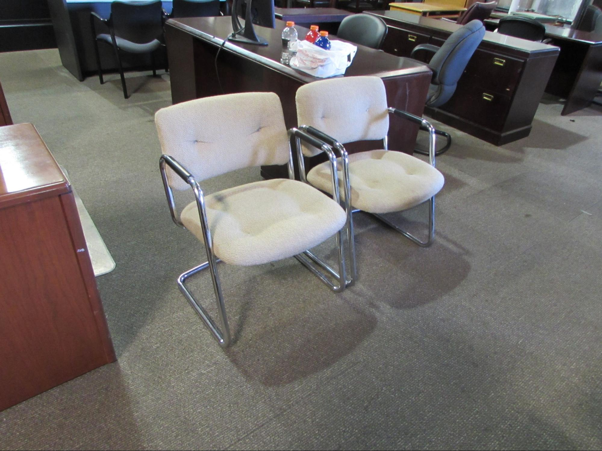 Steelcase Retro Chrome Frame Guest Chairs