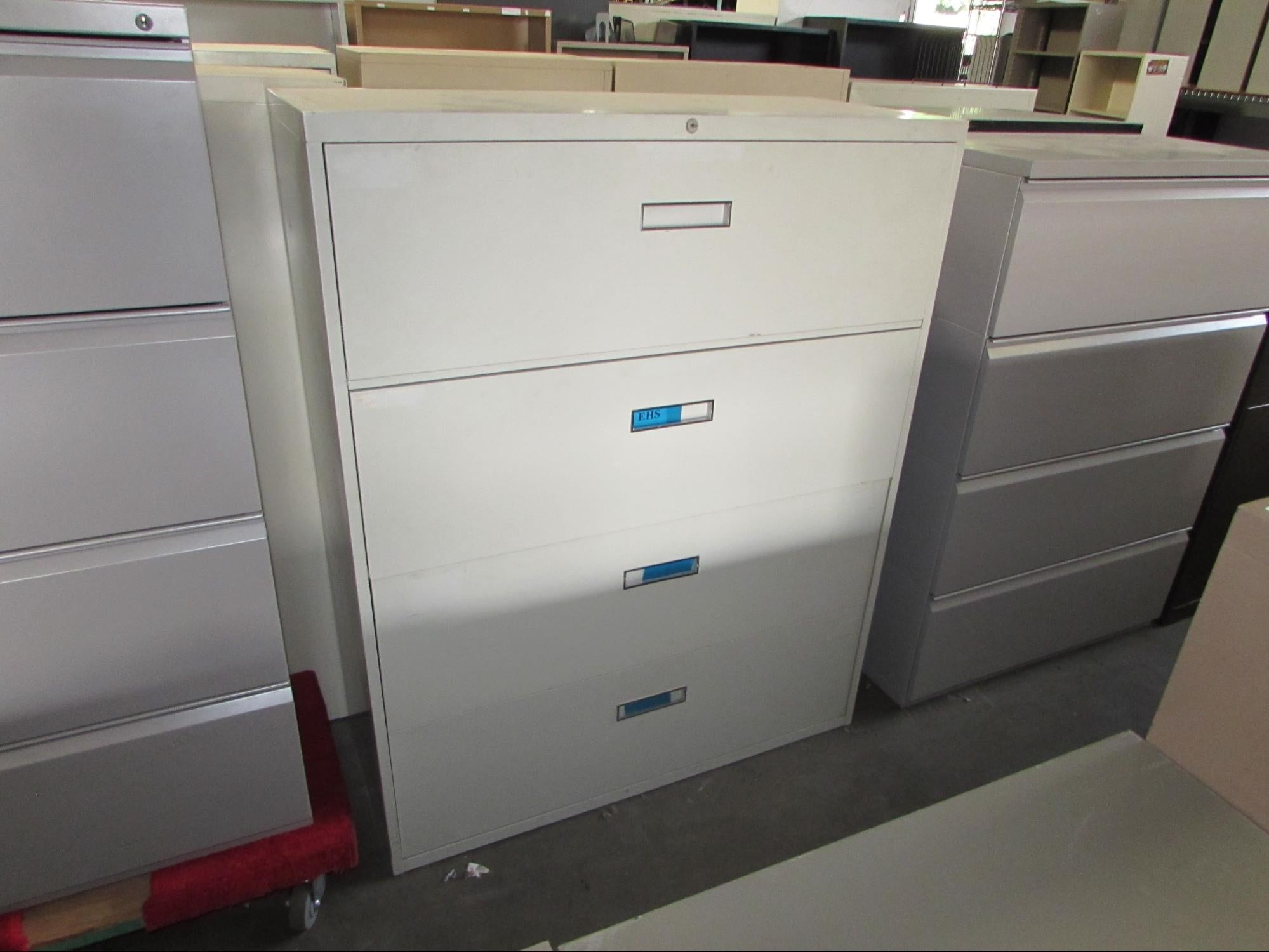 4 Drawer Steelcase Lateral Files