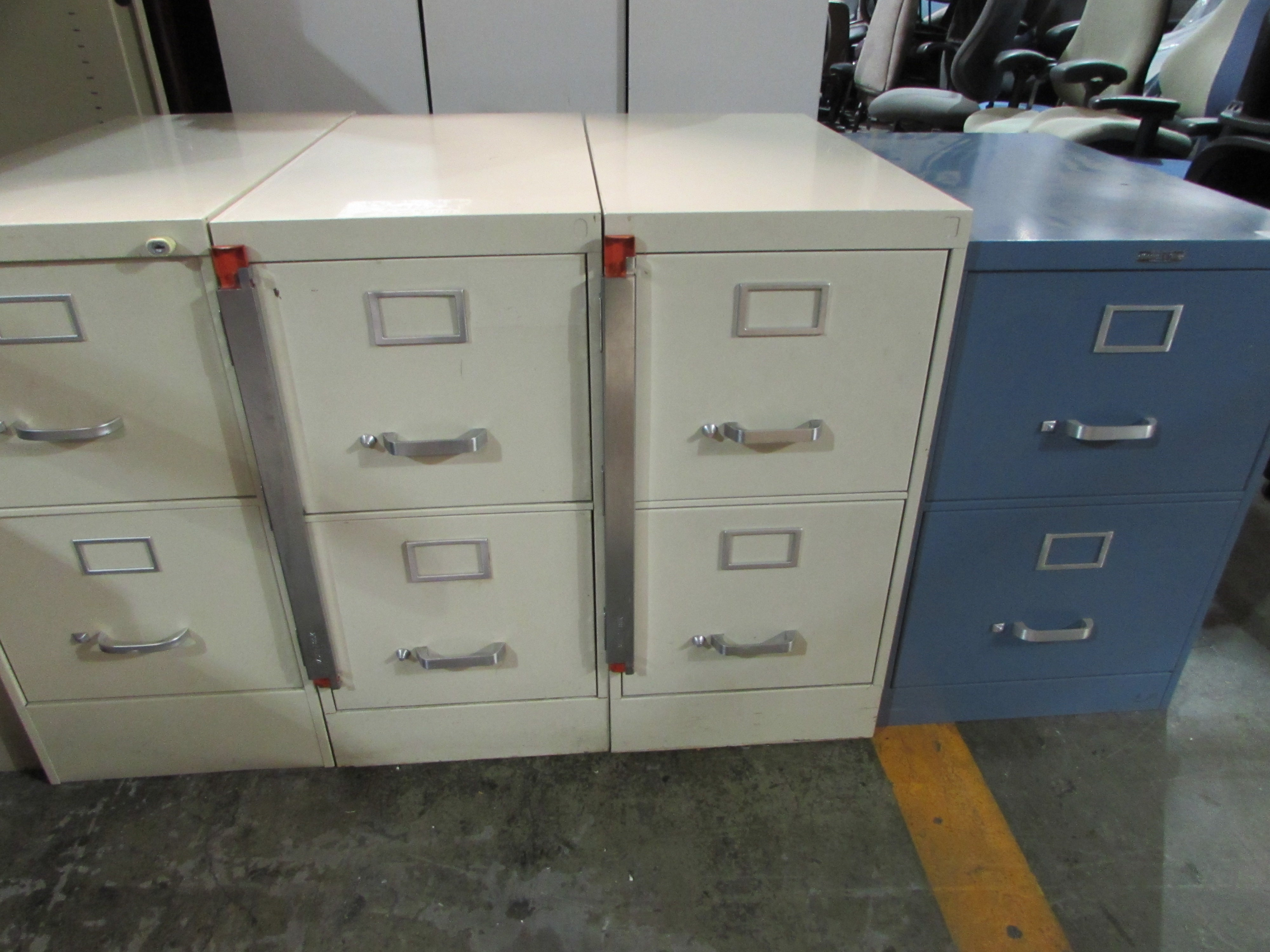 2 Drawer Lockable File Cabinets