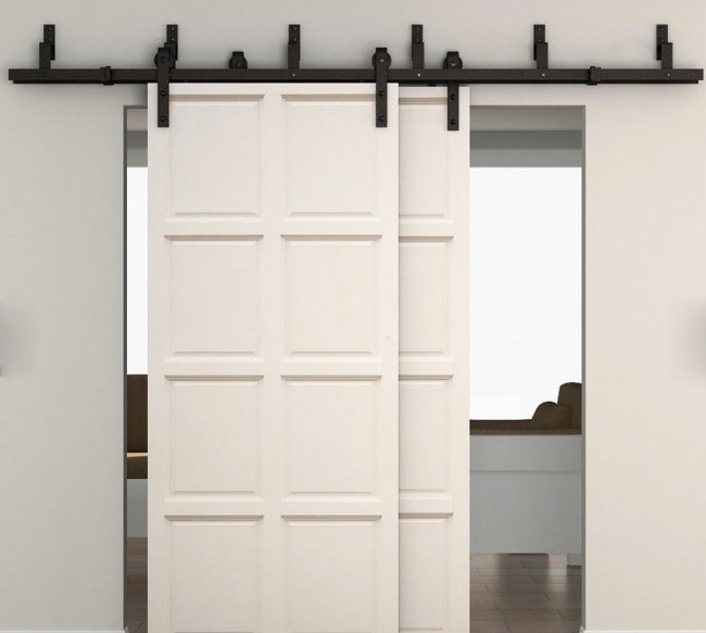 Black Sliding Barn Door Bypass Bracket | Australia Barn Door Expert