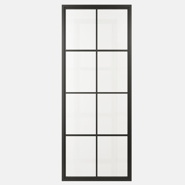 Metal Frame Glass Barn Door Package SG01 | Metal Barn Door | Glass Barn Door
