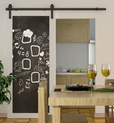 Black Sliding Barn Door Hardware BB03 | Sliding Door Hardware Australia
