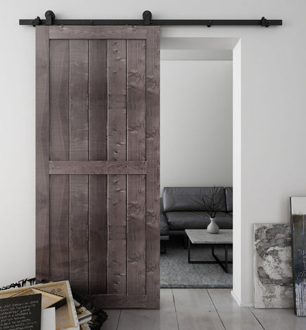 Dark Antique Bronze Finished Sliding Barn Door Hardware BB02D