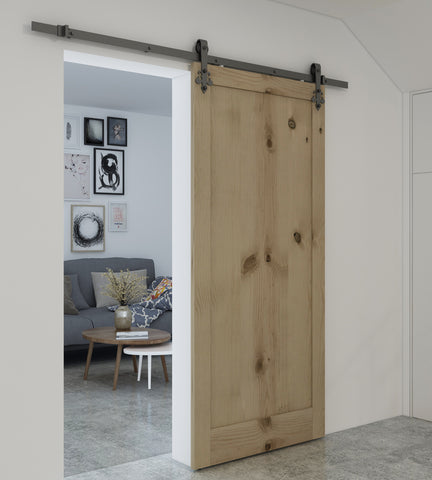 Sliding Barn Door Track | White Finish Sliding Barn Door Hardware BB02W