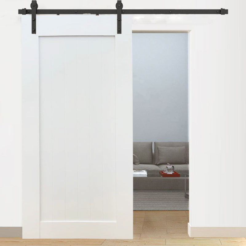 Plank White Internal Doors Barn Door D01W