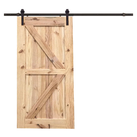 Bottom X-Brace Barn Door D07 I Melbourne Barn Door Expert