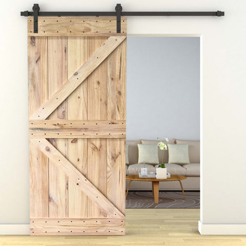 DIY Unassembled Frameless Sliding Barn Door D13-2120x1020x35MM