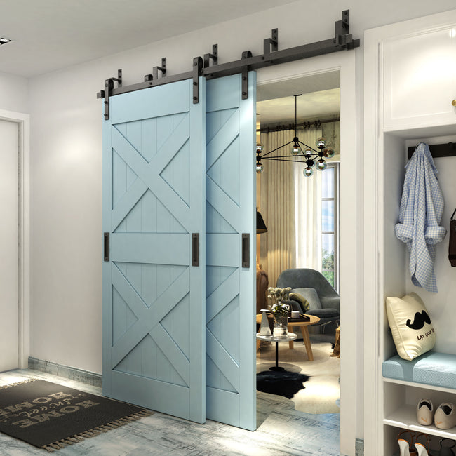 s door style bypass closet double track hardware sliding description kit item itm set arrow barns barn