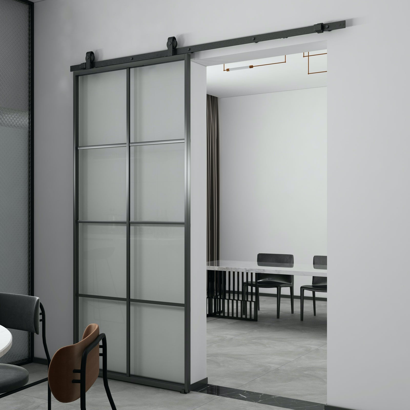 Aluminium Door | Aluminium Barn Door |  Aluminium Glass Barn Door Package AG01 | Aubarndoor