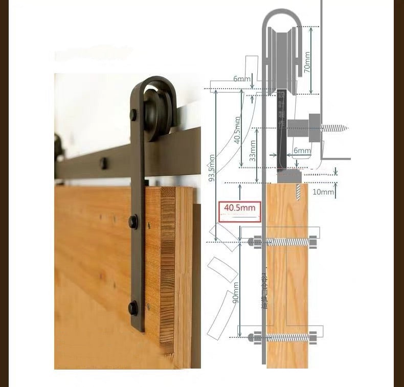 Black Sliding Barn Door Hardware BB02 | Sliding Door Hardware Melbourne