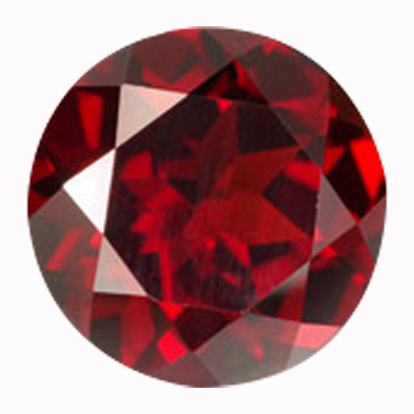 Click To View Round Brilliant Cut Garnet Loose Gemstones Variation