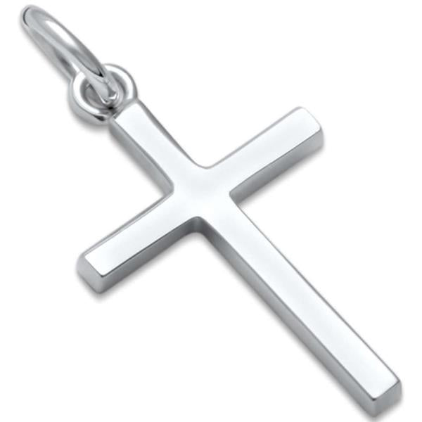 Small Plain Cross .925 Sterling Silver Pendant