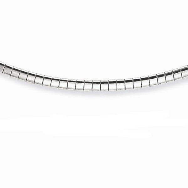 2MM .925 Sterling Silver Omega Necklace Chain 16-18