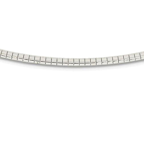 3MM .925 Sterling Silver Omega Necklace Chain 16-18