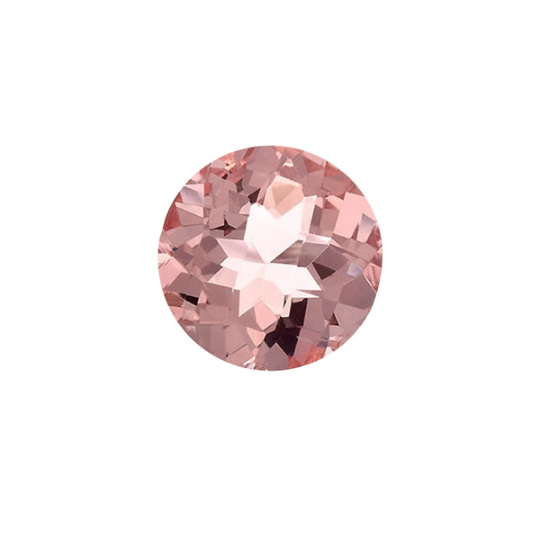 .40ct 5mm Natural Round Brilliant Cut Morganite Loose Gemstones