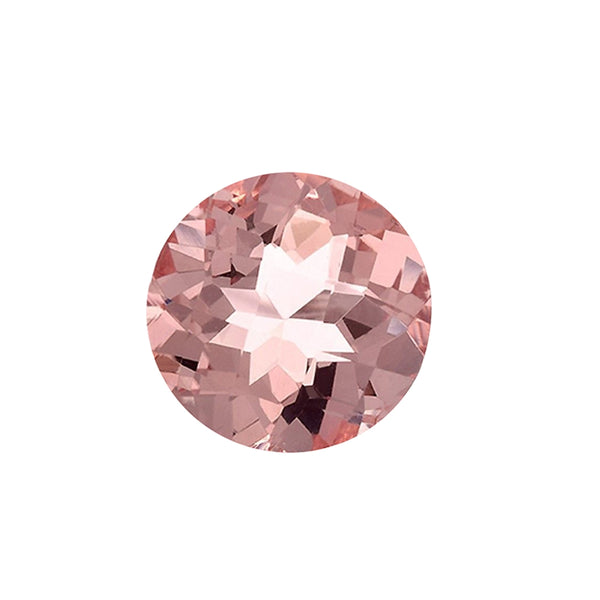 1.53ct 8mm Natural Round Brilliant Cut Morganite Loose Gemstones